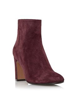 Ophira suede almond toe ankle boots