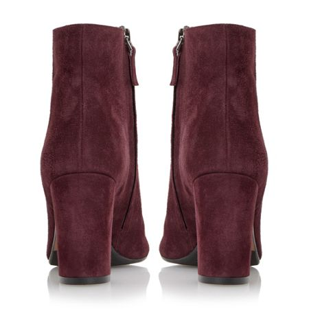 Dune Black Ophira suede almond toe ankle boots