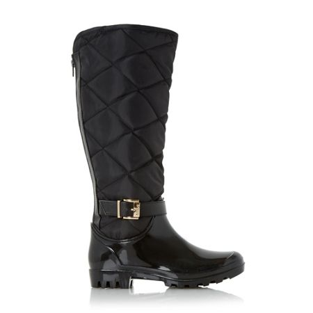 Dune Thunder quilted wellington boots