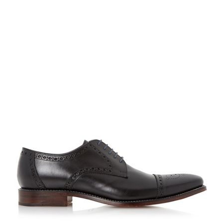 Loake Foley brogue toecap leather gibson shoes