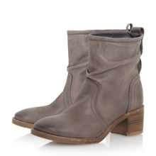 Dune Polizzi rouched ankle boots