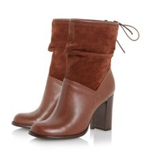 Ryley rouched mixed material calf boots
