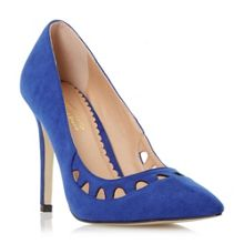 Aroura pointed toe cut out court shoes