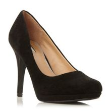 Linea Aurora leather platform court shoes