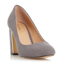 Arista block heel court shoes