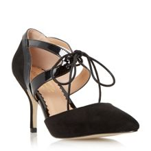 Adeller lace up pointed toe court shoes