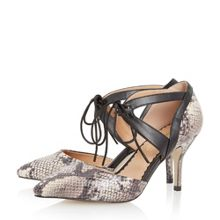 Head Over Heels Adeller lace up pointed toe court shoes