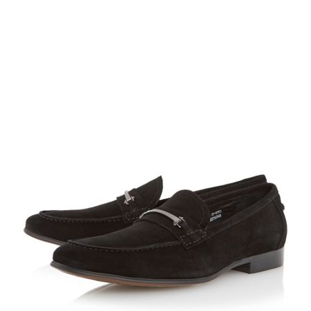 Dune Runcorn metal saddle trim loafers