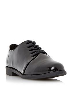 Faria lace up patent brogues
