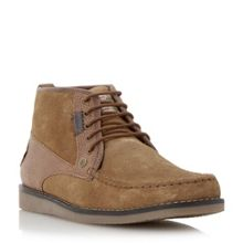 Fall suede mocc toe chukka boots