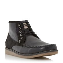 Fall leather mocc toe chukka boots