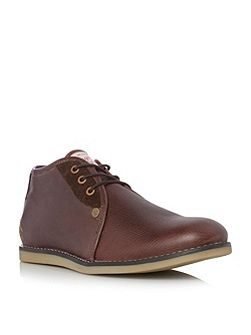 Legal leather lace up desert boots
