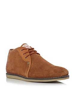 Legal suede lace up chukka boots