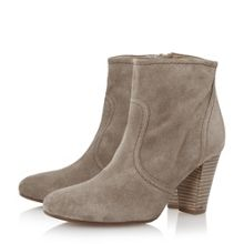 Portia stacked heel low western boots
