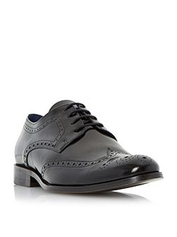 Dune Rio high shine leather lace up brogues