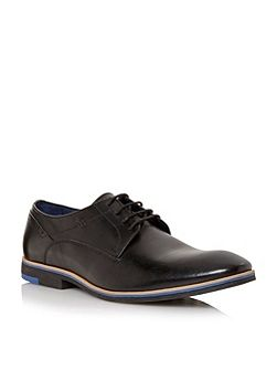 Dune Rink plain almond toe derby shoes