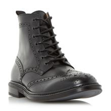 Cruncher lace up brogue boots