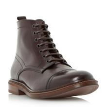 Dune Connelly plain toecap leather boots