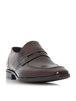 Racecar leather penny loafer
