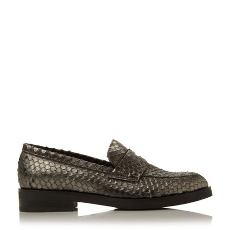 Dune Black Finnley pointed penny loafer