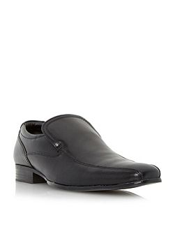 Recipe leather tramline slip on loafers