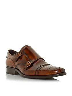Reggi Double Toecap Monk Shoes