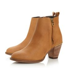 Wantagh zip detail ankle boots