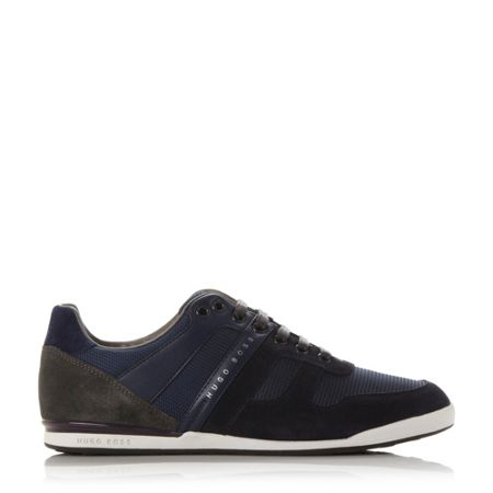 Hugo Boss Akeen clean - suede/lea trainers