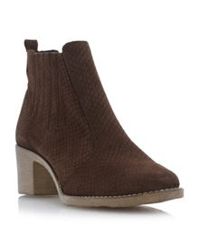 Prichard printed suede ankle boots