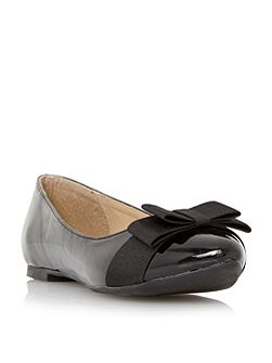 Head Over Heels Herva bow detail ballerina flat