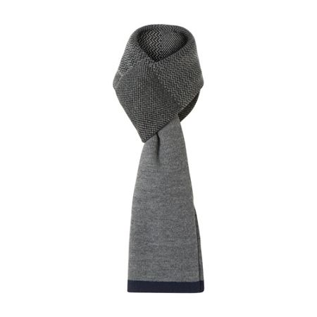 Dune Parley contrast trim knitted scarf