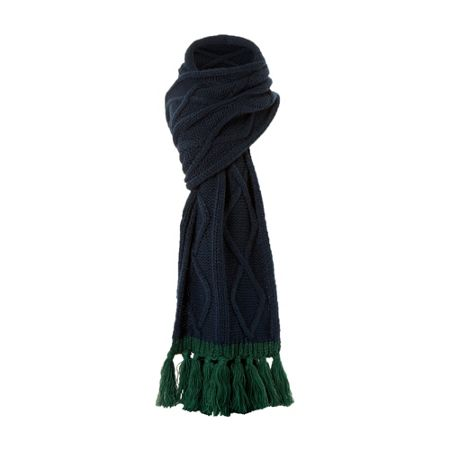 Dune Pimlico tassel cable knit scarf