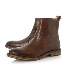 Caden round toe zip up boot