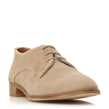 Dune Faris suede textured lace up brogues