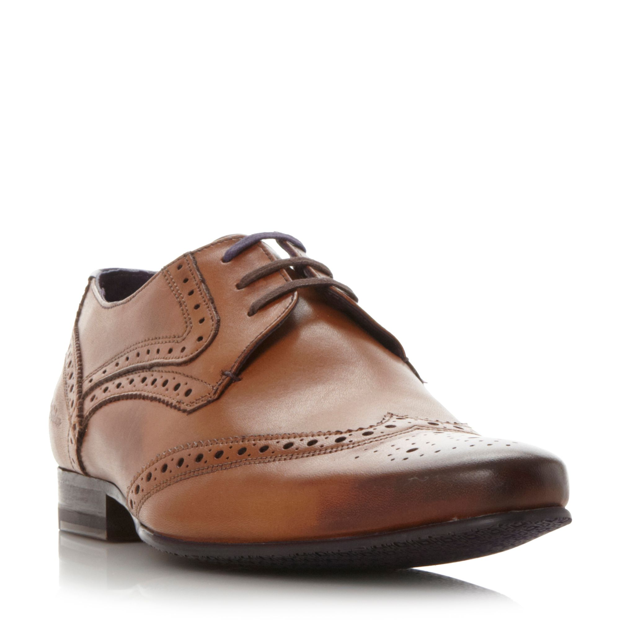 Ted Baker Hann brogue lace up shoes Tan