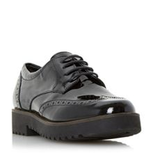 Feean thick sole lace up brogue shoes