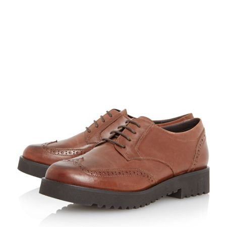 Dune Feean thick sole lace up brogue shoes