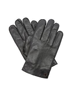 Postalle stud detail leather glove