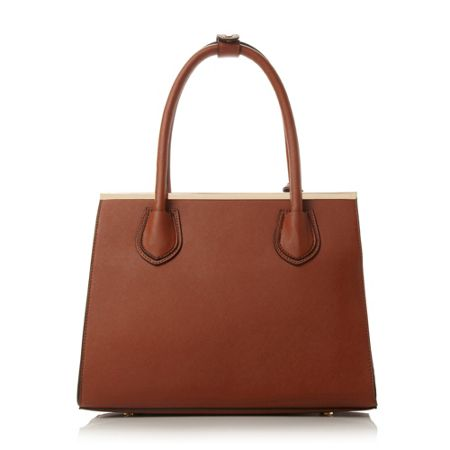 Dune Dependra saffiano saddle bag