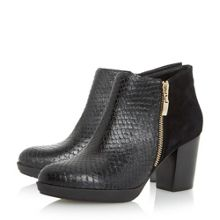Quince mix material side zip ankle boots