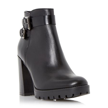 Dune Pettle clean block heel ankle boots