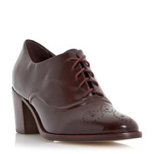 Fritz block heel lace up shoes