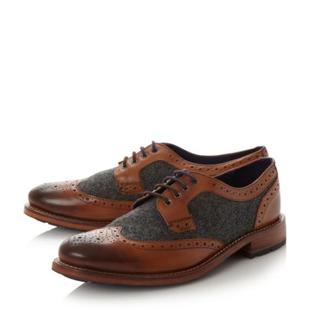 Ted Baker Cassius 3 leather and tweed brogue