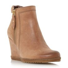 Pacino zip detail wedge boots