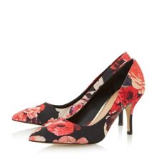 Anito floral print mid heel court shoe