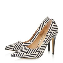Almeda metal high heel court shoes