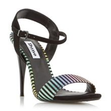 Dune Misti multi striped 2 part sandals