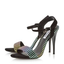 Misti multi striped 2 part sandals