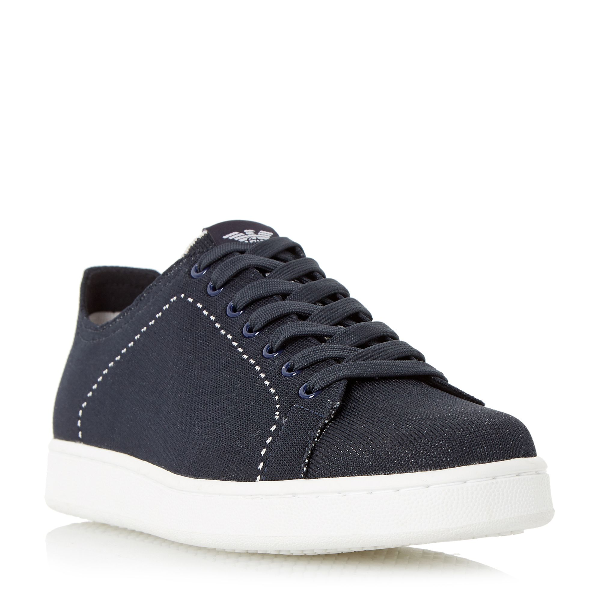 Armani Jeans C6513y6 Stitch Detail Trainers Navy