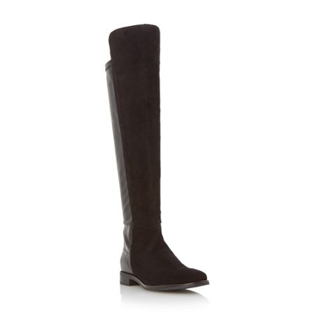 Dune Thimble over the knee stretch back boots